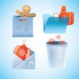Christmas theme vector icons set Royalty Free Stock Photo