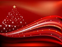 Christmas theme with wave concept Royalty Free Stock Photo
