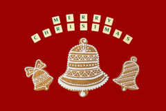 Christmas theme with a wishes on red background. Stock Photography