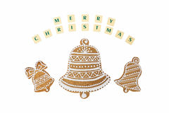 Christmas theme with a wishes on white background. Royalty Free Stock Images