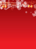 Christmas Themed A4 Banner Stock Photography