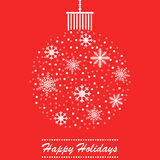 Christmas themed ball holidays card design Stock Images