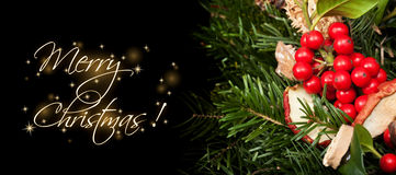 Christmas themed banner with copy space Stock Images