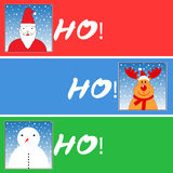 Christmas themed banner designs Royalty Free Stock Image