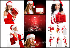 Christmas themed collage Royalty Free Stock Photo