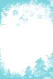 Christmas themed frame in blue. With copy space Royalty Free Stock Images