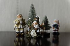 Christmas Themed Group Background Illustration. An illustration of a group of Christmas characters for use as a background Royalty Free Stock Images