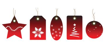 Christmas themed price tags Stock Photography