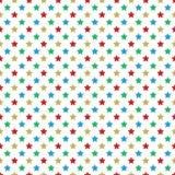 Christmas themed stars seamless pattern Stock Image