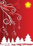 Christmas themes with bulbs Stock Image