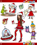 Christmas themes cartoon set Royalty Free Stock Photo