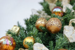 Christmas themes, Christmas arrangement. Christmas themes, detail of christmas decoration Stock Images