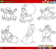Christmas themes coloring book Royalty Free Stock Image