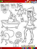 Christmas themes coloring page Royalty Free Stock Photography