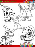 Christmas themes coloring page Royalty Free Stock Photo
