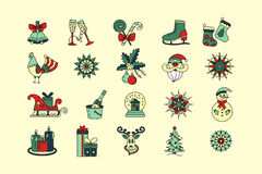 Christmas thin line icons set. Royalty Free Stock Photography