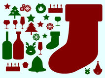 Christmas Things. Illustration of many thing about christmas day Stock Photography