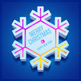 Christmas three-dimensional snowflake Royalty Free Stock Images