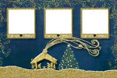 Christmas three photo frames card.
