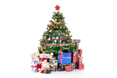 Christmas Three and presents Stock Image