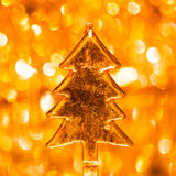 Christmas tree on shiny background Royalty Free Stock Photos