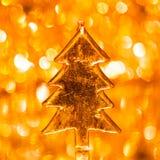 Christmas tree on shiny background. Christmas tree on shiny bokeh background Royalty Free Stock Photos