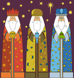 Christmas: Three Wise Men - Three Kings Stock Photography