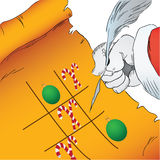 Christmas Tic Tac Toe Stock Image