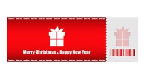 Christmas ticket Royalty Free Stock Image