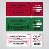 Christmas Tickets Royalty Free Stock Photos