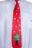 Christmas tie Royalty Free Stock Photo