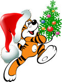 Christmas Tiger Stock Photography