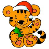 Christmas Tiger Stock Photos