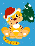 Christmas Tiger Stock Images