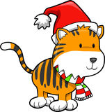 Christmas Tiger Vector Royalty Free Stock Photography