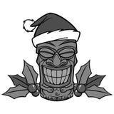 Christmas Tiki Illustration stock illustration