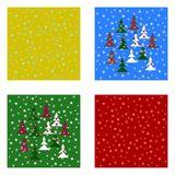 Christmas tileable backgrounds set Stock Photos