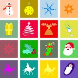 Christmas tiles stock illustration