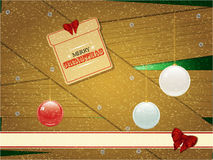 Christmas timbers and screws background Royalty Free Stock Image