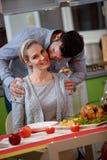 Christmas time – Romantic couple kissing. Christmas time – lovely romantic couple kissing Stock Images