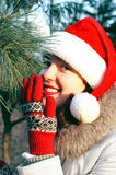 Christmas time!!!. Beautiful Christmas girl pretty smiling Stock Photography