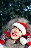 Christmas time!!!. Beautiful Christmas girl pretty smiling Stock Photo