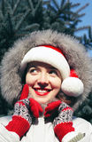Christmas time!!!. Beautiful Christmas girl pretty smiling Royalty Free Stock Photos
