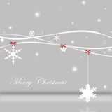 Christmas time. Christmas background with stars and snowflakes Royalty Free Stock Image