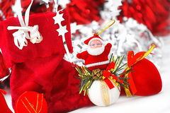 Christmas time. Christmas decoration whit Santa for background Royalty Free Stock Image