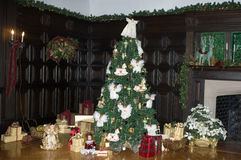 Christmas time. Christmas Tree with Presents Around It Royalty Free Stock Image