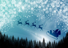 Christmas time. Vector illustration: santa claus is coming Royalty Free Stock Photography