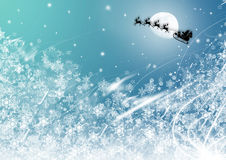 Christmas time. Vector illustration: santa claus is coming Stock Photography