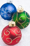 Christmas Time. A series of colorful Christmas ornaments decoration stock photography