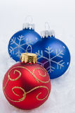 Christmas Time. A series of colorful Christmas ornaments decoration royalty free stock photography